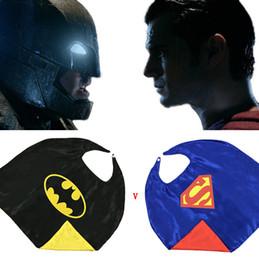 Wholesale 2015 hot kids superman cape superhero cape boys girls costume children halloween party costumes kids shawl set and cloaks J081801
