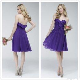 Short Deep Purple Bridesmaid Dress Online | Short Sleeve Deep ...