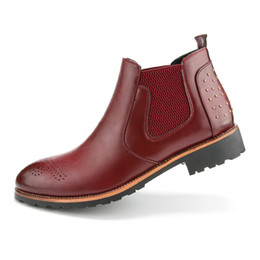 Discount Red Colour Boots Men | 2017 Red Colour Boots Men on Sale