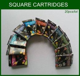 Cartouche carrée E Tuyau E Hookah Starbuzz Cartouches avec 11 saveurs pour 20pcs / 5packs