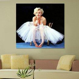 2016 Новая Мэрилин Монро Печать на холсте для украшения стены картины маслом картины для гостиной или coffeebar неструктурированного бесплатной доставкой