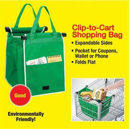 Wholesale Newest Shopping Grocery Bag For Supermarket Trolleys Carrier Bag PC Shopping Bag Reusable Trolleys Folding Shopping Bag DCBO14