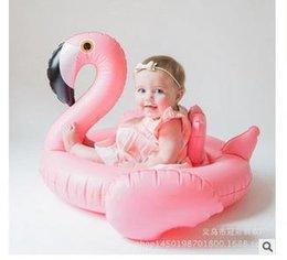 Wholesale 2016 natación del bebé del anillo del asiento inflable dount flamenco cisne flotador de la piscina del verano del bebé Agua Diversión de la piscina de juguete para niños Con piscina Accesorios