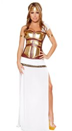 Wholesale Deluxe Greek Goddess Costume Halloween costumes adult F1459 Hot Sale Sexy party costumes