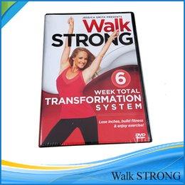 Walk STRONG Workout Dvds 6 Total de la Semana de Transformación del Sistema de Ejercicio Fitness Videos de ejercicios de entrenamiento de ejercicios de fitness dvd DHL