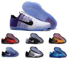 2016 г. Кобе XI Elite низкий Баскетбол обувь Мужчины 100% первоначально нового прибытия кроссовки Дешевые ретро плетение Kobe 11 Sport Boots Размер Eur 40-46