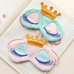 Wholesale Cute Crown Style Eye Mask Shade Cover Rest Eyepatch Blindfold Cover For Travel Sleeping Aid QJ
