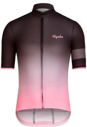 Rapha Maillots Establece juego fresco de bici Jersey respirables de ciclismo manga corta de la camisa del babero para hombre ropa de ciclo