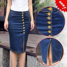 Stretch Denim Skirt Knee Length Online | Stretch Denim Skirt Knee ...