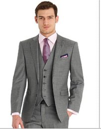 Discount Grey Piece Suit Designs | 2017 Three Piece Light Grey ...