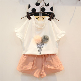 online shopping Kids Sets Baby Girls Summer Toddler Infant Cotton Short Sleeve T Shirt Shorts Short Trousers Pants Set Two Piece Suit Baby Clothes