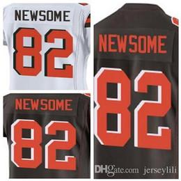 82 Ozzie Newsome jerseys Cleveland Brown white brown orange Elite jersey  size small . 797d8e6a6