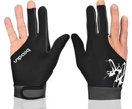Скольжение бильярдные перчатки три пальца перчатки пальцев правой рукой мужчины и женщины могут носить перчатки бильярдный бильярд аксессуары Одноместный загружен