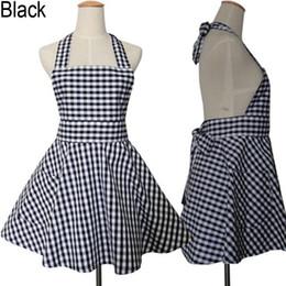 68 62cm Factory Wholesale Hot Sale Korea Design Checks Design Cotton Cute Princess Kitchen Apron Nail Apron