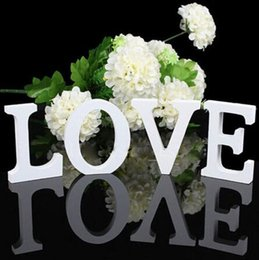 Wedding Decorations Wooden Letters White Wood Love Decorative Crafts Romantic Home Birthday Party Event Supplies Kids