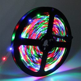 Discount flat 3528 tape light 2835 SMD strip light DC12V 5M 300 LED flexible ribbon tape lighting 3528 Non-waterproof White RGB Red Blue Yellow, indoor decoration CE ROSE