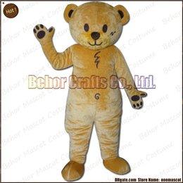 Wholesale Le costume de mascotte d ours libèrent l expédition adulte bon marché de bande dessinée de mascotte d ours de peluche de haute qualité acceptent l ordre d OEM
