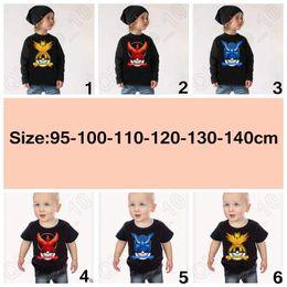 17 Designs Enfants Poke Go T-shirts Poke boule Cosplay T-shirt Pikachu Tops équipe Monster Mystic équipe Instinct Pocket T-shirts LJJC4860 60pcs