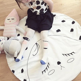 Wholesale Kids Game Mats Baby Crawling Blanket Children Rug Round Racing Games Eyelash Carpet Room Decoration Cotton cm New Arrival