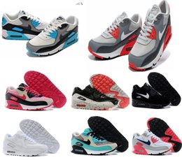 Discount Shoes Run Air Max AIR MAX 90 Men Running Shoes Maxes Mens Sport Airmax Training Shoes Sneakers Cheap Original Breathable
