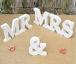 Wooden MR MRS articles de mariage Articles d'ameublement en bois en lettres anglaises Bridal capital lettres anglaises expédition gratuite WT041