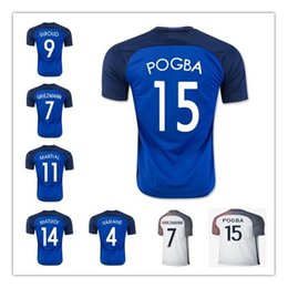 8b753d4ad Discount 16 top quality soccer jerseys Top thai quality EURO new Franced  2016 GRIEZMANN PAYET POGBA