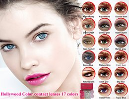Wholesale with ship by DHL colors big box hollywood color contact lenses box pieces case hollywood contacts contact lenses