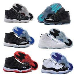 2016 barato aire retro 11s 11 XI 72-10 zapatos de baloncesto de las mujeres del hombre Gamma azul leyenda azul Bred espacio-atasco de Concord GS zapatillas de atletismo Botas