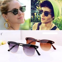clubmaster sunglasses womens vn8l  High Quality 2016 Retail Fashion Men's The Sun Glasses Retro Inspired Club  Elegant Metal Star Master Sunglasses Women