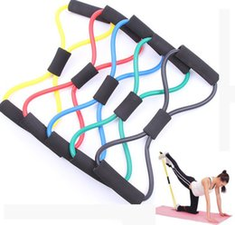 Wholesale Yoga Resistance Bands Belt Characters Pull Strap Chest Expander Rally Body Building Exercise Sports Fitness Supplies SGS Testing ZJ B05