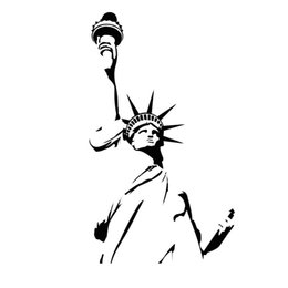 D587 Statue Of Liberty Wall Sticker New York City Symbolic Room Decorative Wall  Decal Vinyl Removable Wall Stickers Home Decor