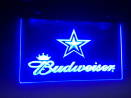 b-79 Dallas Cowboys Budweiser Beer Bar Pub Club NEW LED Neon Light Sign  Cheap signings hotline