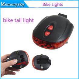 1 Set vélo léger (5LED + 2Laser) Accessoires LED de vélo Cyclo VTT feu arrière étanche Bike bicicleta Laser Warning Lamp Clignotant