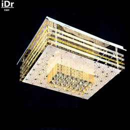 modern minimalist k9 crystal blue plate special effects red low rectangular hall bedroom living room ceiling lights cheap lighting effects