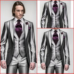 Discount Shiny Gray Suit For Wedding | 2017 Shiny Gray Suit For ...