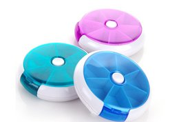 Wholesale 2016 New Weekly Rotating Pillbox Travel Pill Case Pill Organizer Medicine Box Pill Container WB0223