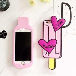 Wholesale 3D Lovely Boys Tears Mineral Water Ice lolly Case for iPhone S SE S Plus plus Lick Me Dolls Soft Silicone Cover