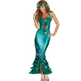 Wholesale Al por mayor atractivo de la sirena de las señoras del cuento del libro del vestido de lujo para mujer adultos traje traje