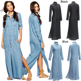 Discount Jeans Maxi Dress | 2017 Long Dress Maxi Jeans on Sale at ...