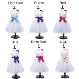 Vestido de noche sin mangas Niñas princesa vestidos Niños vestido de niña de la flor de la fiesta Vestido de novia de la boda Princesa del desfile de la fiesta de cumpleaños