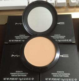 New Foundation Marca Make-up Studio Fix em pó bolo fácil de usar Face Powder Blot Pó compacto Sun bloco de fundação 15g NC NW DHL grátis