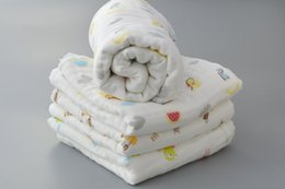 Wholesale 85x85cm Muslin Baby Swaddling Blanket Newborn Infant Cotton Swaddle Towel Random Delivery