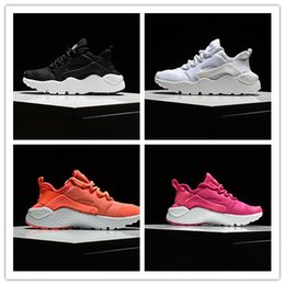 online shopping 28 with shoe box ORIGINAL quality BOYS GIRLS white Black PINK KIDS airs huarache ULTRA shoes running sneakers