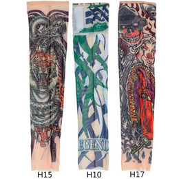 Wholesale Hot Sale Fashion Design For Cool Child Nylon Stretchy Kid Temporary Tattoo Sleeves Arm Stockings Tatoo