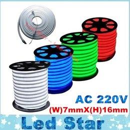 Flex RGB LED Neon Light bande flexible 120leds / m étanche IP68 chaud / Blanc / Rouge / Gren / Bleu AC 220-240V