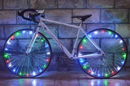online shopping Colorful Bike Rim Lights Water resistant LEDs Bicycle Cycling Rim Lights LED Wheel Spoke Light m String Wire Lamp
