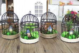 Creative Zakka Crafts Handmade Crafts S L Size Classic Bird Cage Model Resin Coffee Bar Home Decor