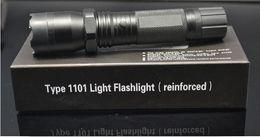 Hot Sale Nouveau 1101 Type Edc Linternas Light Cree Led Lanterne tactique Lanterna auto défense Torche 18650 (built-in) Livraison gratuite