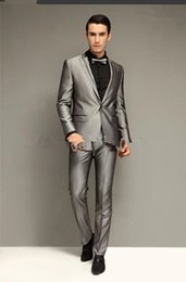 Silver Slim Suits For Men Online | Silver Slim Suits For Men for Sale