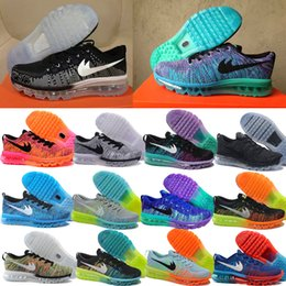 2016 Shoes Run Air Max 2014 14 Colors Sneakers 46 Max Size for Cheap, For Men and women grey Red Black Navy colors Casual Air Mesh Running Shoes with Original Box